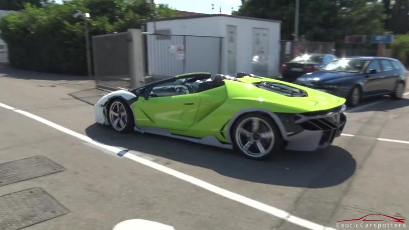 $2.3M Lamborghini Centenario LP770-4 Roadster Driving on the Road