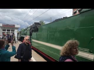 Проход паровоза на станции Тушино