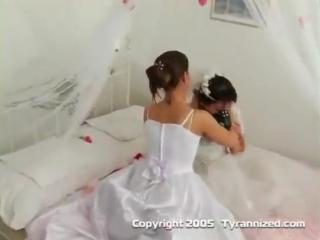 Tyrannized strapon wedding  (stockings, MILF, bride, Music, Tail, Stockinged ,Gloves)