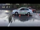 Типичные ошибки на автодроме.Упражнение гараж.