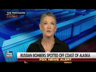 RUSSIAN BOMBERS INTERCEPTED BY F-22 STEALTH FIGHTERS OFF COAST OF ALASKA