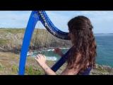Marion Le Solliec Девушка красиво играет на арфе DAFT PUNK - Get lucky - harp ⁄ harpe