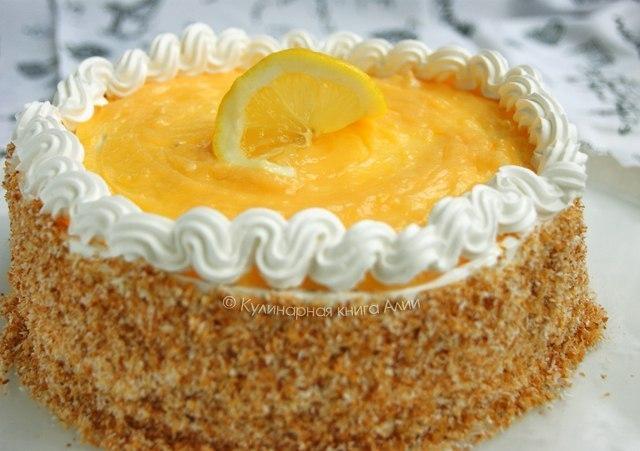 """Торт """"Лимонно-кокосовый"""". Для формы 18-20 см Бисквит (стал моим"""
