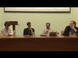 Hyperstition дискуссияПолина Ханова, Никита Сазонов, Йоэль Регев, Артем Морозов