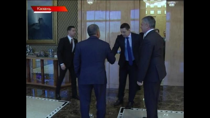 Встреча Сергея Шишкарёва с президентом Республики Татарстан Рустамом Миннихановым