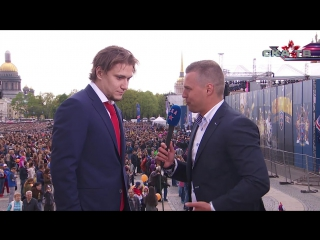 Сергей Плотников на чемпионском параде СКА