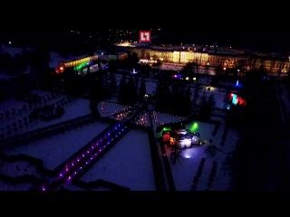 В Царском Селе световым шоу проводили зиму