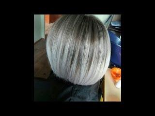 Пепельное омбре на русых волосах. Техника выполнения. ash Ombre