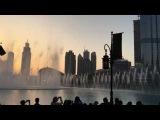 Дубайские фонтаны днём 1080 60fps