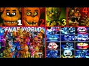 ALL ANIMATRONICS ALL JUMPSCARES FNAF 1,2,3,4, World Sister Location