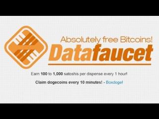 BITCOIN FAUCET *DATA FAUCET* 100 TO 1000 SATOSHI EVERY 60 MINUTES (WITHDRAWALAUDIOSCREEN)