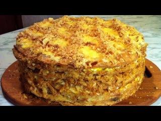 Закусочный Наполеон с Курицей и Грибами(Очень Вкусно)/Закусочный Торт/Новогодни...