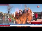 На территории Мемориального комплекса «Концлагерь «Красный» в селе Мирное прошла акция «Позабыть нельзя» Память о трагедии. На т