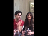 Darren Criss and Lea Michele Facebook Live