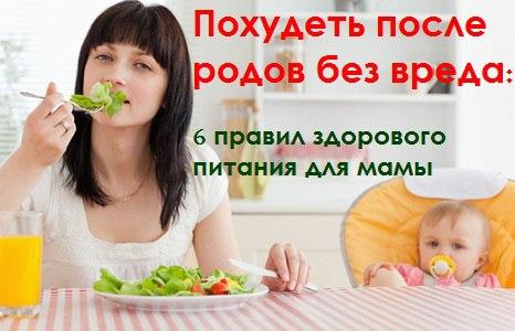 Как похудеть кормящей матери без вреда для