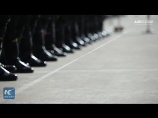 Как тренируется Рота почетного караула Народно-освободительной армии Китая
