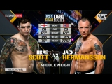 UFC Fight Night 114 BRADLEY SCOTT VS JACK HERMANSSON Highlights