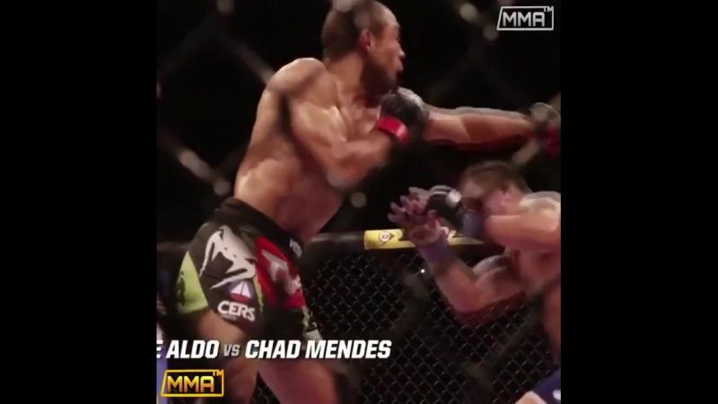 Один из лучших боев в полулёгкой весовой категории 🔥👊 🇧🇷Jose Aldo 🆚 Chad Mendes 🇺🇸