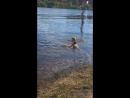Катя купается в сухоне