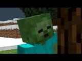 Майнкрафт мультик - Миникотик и Зомби (Minecraft animation - Sad Story)