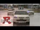 [ENG CC] Type R battle - Integra DC2 98 spec vs. 96 spec vs. Civic EK9 Maze 1998