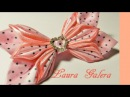 Moño elegante para niña Ribbon bow for girl Laço de fita