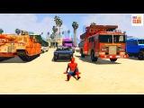 Мультфильм Человек Паук и Песенки для Детей Цветные Машинки и Грузовики с Супер ...