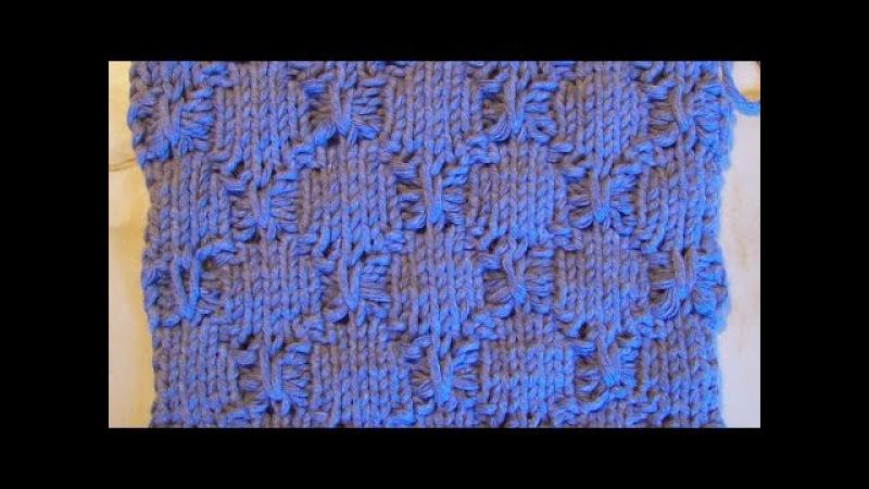 Элегантный женственный узор со спущенными петлями Вязание спицами Видеоуроки