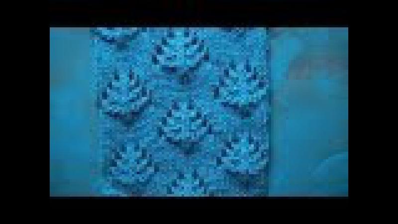 Ажурный узор Оригинальные листики Вязание спицами Видеоуроки