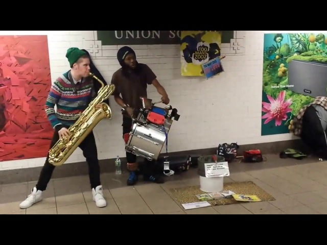 Too Many Zooz Leo P and drummer in NYC