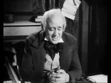 Scrooge - The Morning After The Ghosts - famous scene from the classic movie A Christmas Carol
