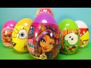 Пластиковые яйца 2! Монстер Хай, Барби Barbie, Angry Birds, Губка Боб Spanch Bob, Ам Ням!