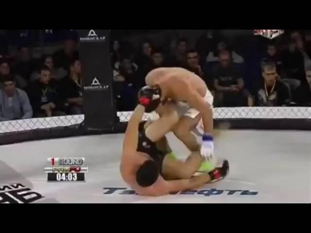 Русский Казак в MMA!сильный боец!