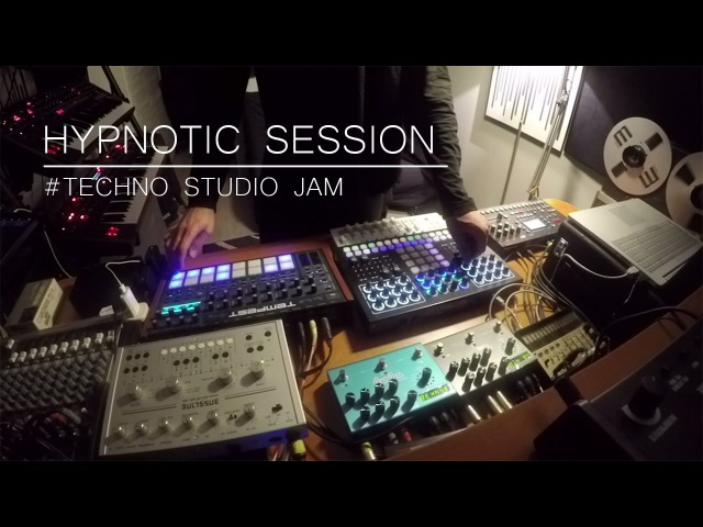 Hypnotic session Techno studio Jam Tempest SpaceEcho Prophet6 Perfourmer SubPhatty Strymon..