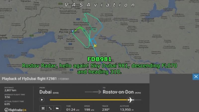 FlyDubai FZ981 CRASH at Rostov-on-Don (Russia)
