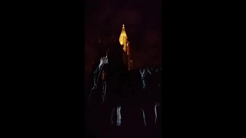 Illumination Cathédrale de Strasbourg  Световое шоу на Страсбургском Соборе