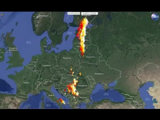 Dangerous squall line going through right now from latvia , lithuania , estonia and finland !!! powerful thunderstorms right now
