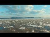 Течёт река Волга. Пролёт над итальянским пляжем Тольятти. Весна 2017г.   Автор Олег Боцман.
