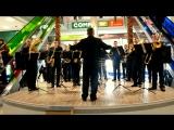 Флеш-моб війскового оркестру в ТРЦ Мегамолл, ч.2.