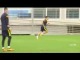 Тренировка Коутиньо в сборной Бразилии