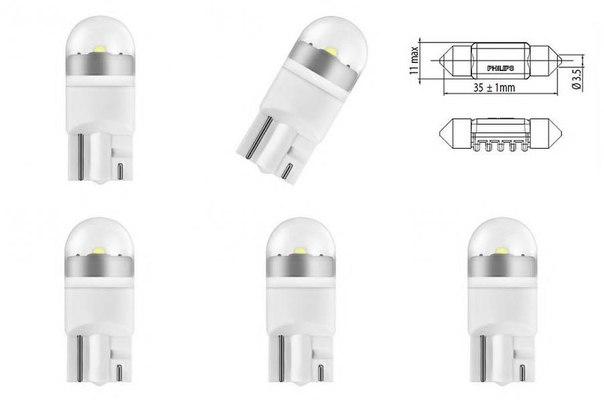 Лампа накаливания, внутренее освещение; Лампа накаливания, фонарь установленный в двери; Лампа накаливания, фонарь освещения багажника; Лампа накаливания для BMW 6 купе (F13)