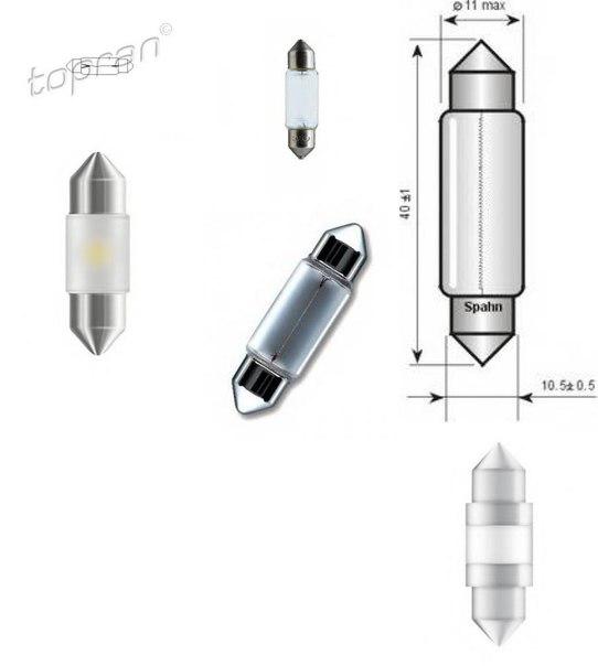 Лампа накаливания, внутренее освещение; Лампа накаливания, фонарь освещения багажника для BMW 7 (F01, F02, F03, F04)