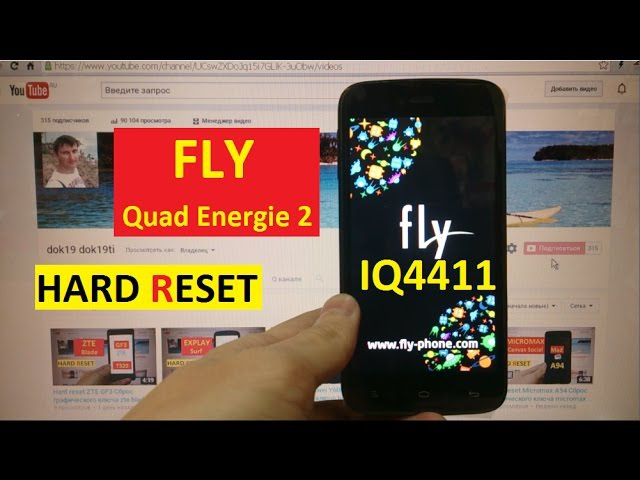 Hard reset Fly IQ4411 Сброс графического ключа fly iq4411 quad energie 2