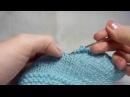 Обвязка края крючком шнуром гусеничка / Crochet Romanian point lace cord bind off