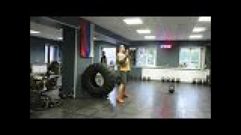 Гиря Ка4. Гиревой кроссфит комплекс Бульдог (вариант от 10 до 1). Kettlebell CrossFit Wod.