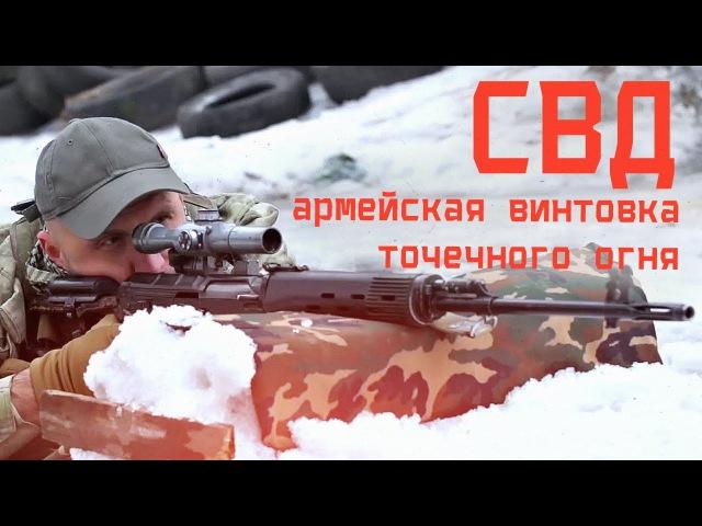 СВД - снайперская винтовка Драгунова ☆ армейская винтовка точечного огня
