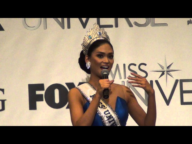 Miss Universe 2015 Pia Wurtzbach Post-Pageant Interview Unedited Full Coverage