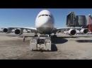 Lufthansa Airbus A380 Departure from San Francisco English Subtitles
