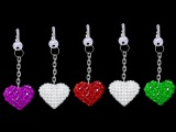 How To Make Crystal Beads Keychains At Home  DIY Home Made Keychains