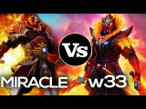 9k Miracle- vs 8k w33 | Ember Spirit Battle Dota 2